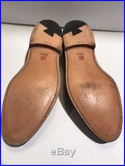 VTG Alden Brown Suede Tassel Loafers Slip On Dress Split Toe Shoes Men US 11 B/D