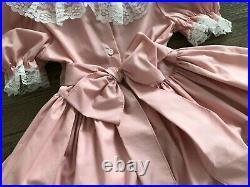 VTG Dolls & Darlings Pageant Ruffle Lace Girl's Party Dress Sz 6X + RUFFLED SLIP