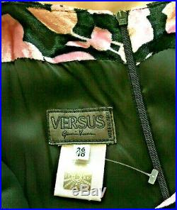 VTG GIANNI VERSACE Versus Panne VELVET Slip DRESS Maxi GOWN Art Deco 40 It 6 US