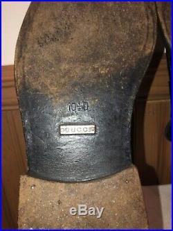 VTG GUCCI Men's Black Loafers Slip on Leather BAND LOGO Dress Shoes Sz 10.5D
