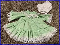 VTG Girls Full Circle Ruffle Swiss Dot Pageant Dress Lace, Slip & Bloomers EUC