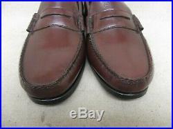 VTG Hanover Burgundy Leather Moc Toe Slip On Dress Shoes Boots Mens Size 9.5 EEE