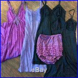 VTG MAXI / DRESS / GOWN / ROMPER / ROBE / SLIPS LOT 18 pieces Twilight