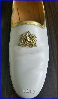 VTG Ralph Lauren Crest Women's Shoes Loafers Vintage Slip Ons Made Italy Size 10