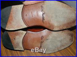 VTG SUTOR MANTELLASSI Tan Calf Leather Slip On Loafers US 10D Dress Shoes Italy