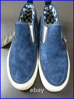 Vans Mens Mid Slip Sf Suede Mte boots Dress Blues Antique White Size 11 NWT