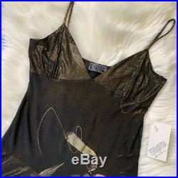 Versus Versace Vintage Asymmetrical Slip Dress New With Tags Size Small