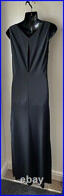 Versus Vintage Gianni Versace Black Slip Evening Maxi Dress Size Eu 44 Uk 12