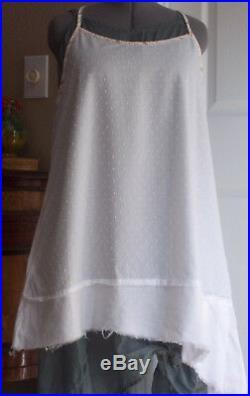 Very cute Vintage Krista Larson flocked dot Flounce Slip Dress layering