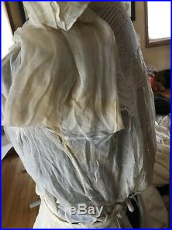 Victorian 2 Piece Lace Wedding Dress Plus Slip Xxs For Restoration