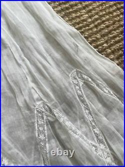 Vintage 1900s Edwardian Lace dress Collar Slip Small