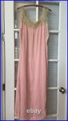 Vintage 1920's dress silk lace slip flapper 20s rare