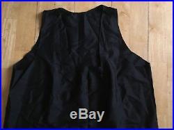 Vintage 1920s Black Silk Negligee Nightdress Deco Shift Slip Chemise Beautiful