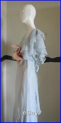 Vintage 1920s Dress Silk Chiffon + Gloves + Slip