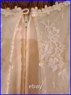 Vintage 1920s Net Lace Flapper Dress & Slip 2 Piece Vintage great Detail READ