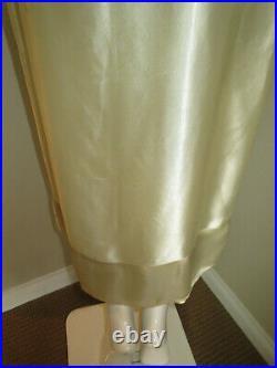 Vintage 1920s Slip Dress Silk Charmeuse 2 Panel Skirt