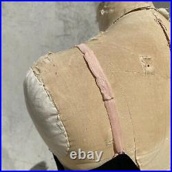 Vintage 1930s Black Silk Dress Slip Bias Cut Maxi Low Back Pink Straps