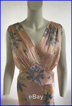 Vintage 1930s Deadstock Floral Bias Cut Slip Dress