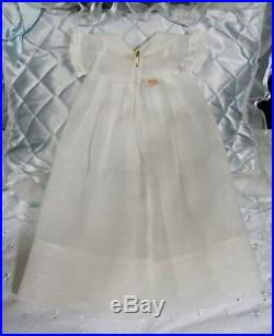 Vintage 1930s Effanbee Dy-Dee 11 White Organdy Tagged Christening Dress & Slip