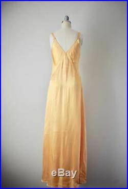 Vintage 1930s Marigold Bias Cut Slip Gown