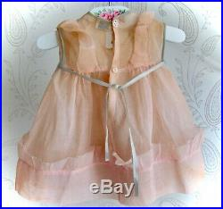 Vintage 1930s Molly-'es Shirley Temple Composition 27 Doll Tagged Dress/Slip