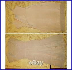 Vintage 1930s Sheer SILK CREPE & Embroidered LACE BIAS Cut Dress Jacket Slip