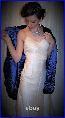Vintage 1930s dress slip wedding under-dress lingerie