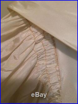 Vintage 1940'S Wedding Slip Nightgown Pin-up Deco Bias Negligee Taffeta