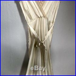Vintage 1940's Lady Duff Bias Cut Lace Nightgown Slip Dress Size Small
