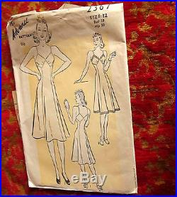Vintage 1940s Advance 2367 Slip Dress Pattern SIZE 12 BUST 30 HIP 33