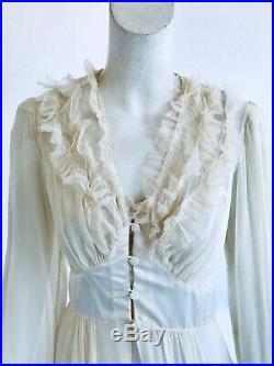Vintage 1940s Chevette Art Deco Lingerie Slip Dress Peignor Ensemble