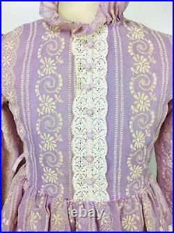 Vintage 1950's Lavender Sheer Organdy Little Girl Party Dress Crinoline/Slip