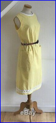 Vintage 1950s Linen Dress By Sandpipers 60s Cool Summer Shift Slip Exquisite