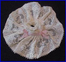 Vintage 1950s Madame Alexander Kins CROCHET LACE DRESS HAT SLIP Pink Bow Wendy