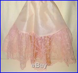 Vintage 1956 CISSY Doll GOWN Dress Pink Satin SLIP SHOES Madame Alexander AS IS