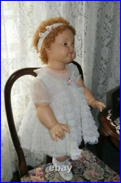 Vintage 1960 28 Ideal Suzy PlayPal Beautiful white vintage dress slip pantie