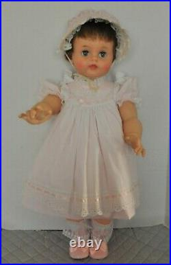 Vintage 1960 28 Ideal Suzy Playpal dressed in a. Pretty PINK dress hat and slip