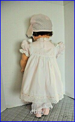 Vintage 1960 28 Ideal Suzy Playpal dressed in a pretty PINK dress hat and slip