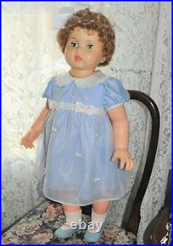 Vintage 1960 32 Ideal Penny PlayPal Beautiful blue dress full slip org. Shoes
