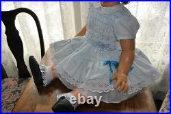 Vintage 1960 32 Ideal penny PlayPal Beautiful smocked dress full slip