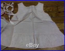 Vintage 1960 Baby Girl Toddler Dress KID Clothes Lot Of 3 Sheer with Satin slip