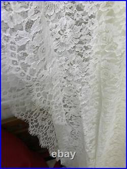 Vintage 1960s Ivory Satin Slip & Lace Kaftan Caftan Wedding Gown Dress Unisize