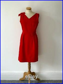 Vintage 1960s Pencil Dress Vivid Red 60s Cool Summer Slip Exquisite 60s MOD