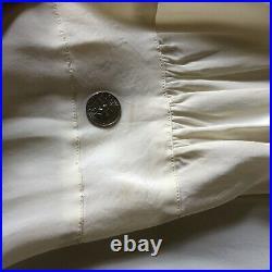Vintage 1970s Ivory Rayon Maxi Slip Dress Bias Cut Lace by Bur Mil Shop Doen