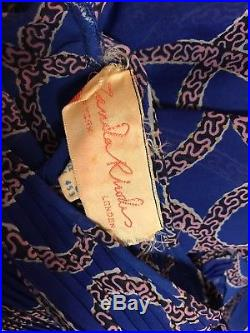 Vintage 1970s Zandra Rhodes Lingerie Slip Dress