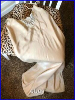 Vintage 1980's Fernando Sanchez Nightown Lace Flower Slip Dress size S Rouje