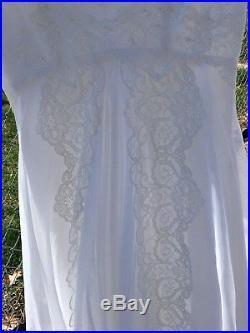Vintage 1982 Wedding Dress White With Lace, Vale & Slip Size 6