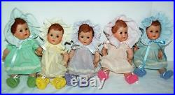 Vintage 1983 10 Dionne Quintuplets in new Dresses, slips, hats, bibs panties