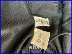 Vintage 1990's Dolce & Gabbana Black Nylon Slip Dress
