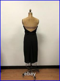 Vintage 1990s CALVIN KLEIN COLLECTION Minimalist Little Black Dress
